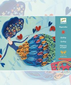 Djeco Művészeti műhely - Tavasztündér - Petticoat scrolls miniart