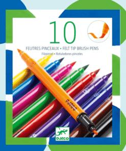 Ecsetfilc készlet - 10 klasszikus szín miniart