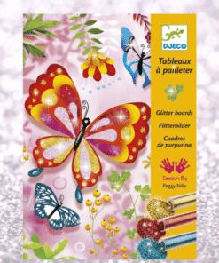 djeco Csillámkép készítő - Pillangók - Butterflies miniart