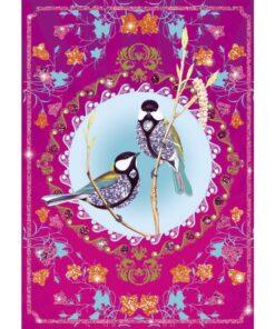 djeco Csillámkép készítő - Csillogó madarak - Glitter birds miniart