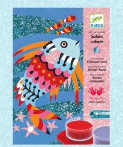 djeco Homokkép készítő - Szivárványos halak - Fish rainbows miniart