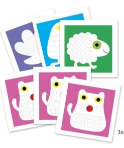 djeco Rajzműhely - Állatok - Graphism Animals miniart