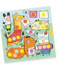 djeco Kreatív matricázó - Színes pöttyökkel - With coloured dots miniart