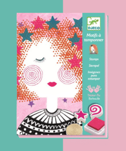 djeco Kreatív nyomdakészlet - Arckifejezések - Create the fashion girl's look miniart