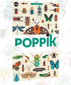 Kreatív, fejlesztő óriásplakát, 44 matricával - Rovarok | Poppik miniart