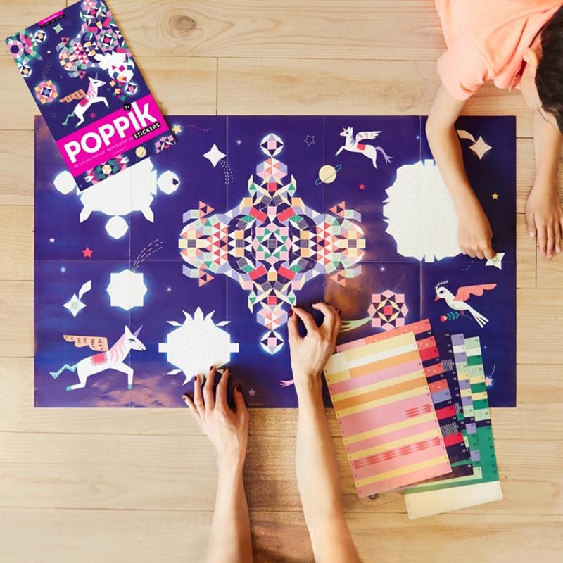 Kreatív, fejlesztő poszter, 1000 matricával - Csillagkép | Poppik miniart