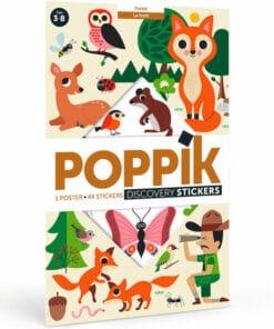 Kreatív, fejlesztő óriásplakát, 60 matricával - Erdő   Poppik MINIART