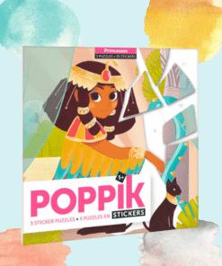 Kreatív, fejlesztő 3 db illusztrált kártya, 105 puzzle matricával - Hercegnők | Poppik miniart