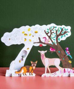 Karton színező erdei történet miniart