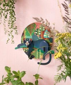 3 D puma dekoráció miniart