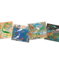 Metálkép készítés - Dinoszauruszok - Collages - Dinosaurus djeco miniart
