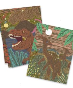 djeco Karckép technika - Dinoszauruszok - Dinosaurs miniart