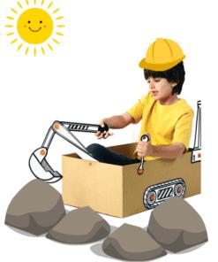 BoxProps Közlekedés - Markoló - Digger makedo miniart