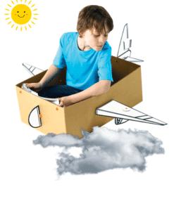 BoxProps Közlekedés - Repülőgép - Aeroplane miniart makedo