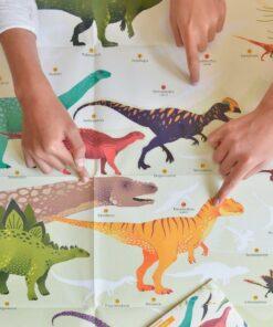 Kreatív, fejlesztő óriásplakát, 32 matricával - Dinoszaurusz | Poppik MiniArt
