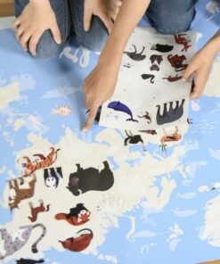 Kreatív, fejlesztő óriásplakát, 67 matricával - Világ állatai | Poppik miniart