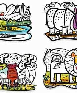Bársonyszínező - Állatok a szavannán - Animals of the savannah djeco miniart