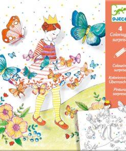 Meglepetés színező - Pillangó kisasszony