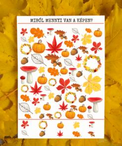 őszi nyomozás letölthető játéklap
