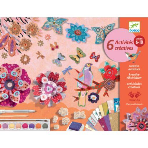 Kreatív műhely-6 technika 1 dobozban - virágoskert
