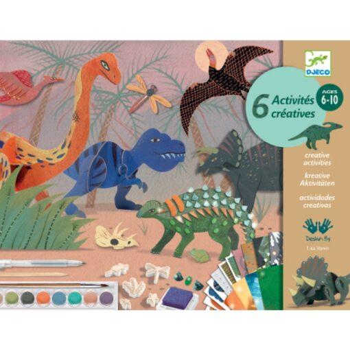 Kreatív műhely-6 technika 1 dobozban- dinoszauruszok világa